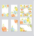 botanic card with wild flowers and leaves vector image