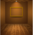 Brown room with frame vector image vector image
