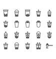 bubble milk tea icon set vector image