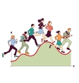 Business team competitive run graph vector image vector image