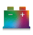 car battery sign colorful icon with vector image