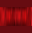 close view of realistic red curtain vector image