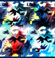 colored abstract pattern graffiti vector image