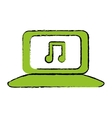 computer with music icon image vector image vector image
