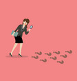 detective business woman finding answer vector image