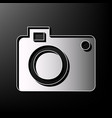 digital camera sign gray 3d printed icon vector image vector image