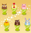 Easter egg Images animals clip art vector image vector image
