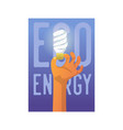 eco energy poster banner brochure flyer vector image