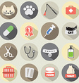 Flat Design Cat Icon Set vector image vector image