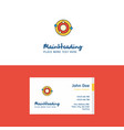 flat solar system logo and visiting card template vector image