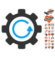 gear rotation direction icon with love bonus vector image vector image