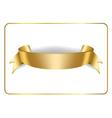 Gold satin ribbon on white 3 vector image vector image