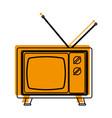 isolated retro tv design vector image