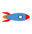 isolated rocket ship icon vector image