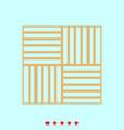 laminate flooring set it is color icon vector image vector image
