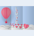 love invitation card valentines day balloon and vector image vector image