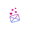 love letter icon on white vector image vector image