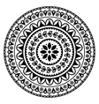 Mandala Indian inspired round geometric pattern vector image