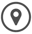 Map Marker Icon Rubber Stamp vector image vector image