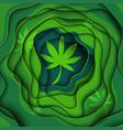 marijuana paper art backgroundcolor vector image vector image