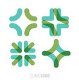 medical abstract symbol from transparent vector image vector image