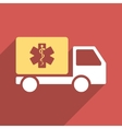 Medical Shipment Flat Longshadow Square Icon vector image vector image