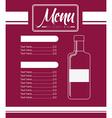 menu wine design vector image vector image