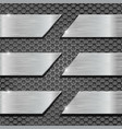 metal perforated background with metal plates vector image vector image