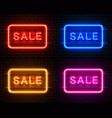 neon signboard text sale vector image