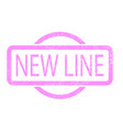 new line stamp vector image
