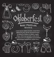 Oktoberfest elements set vector image vector image