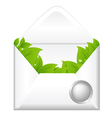 Open Envelope With Leaves vector image