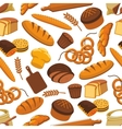 pattern of bread and bakery products vector image vector image