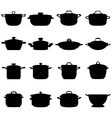 pots and pans vector image vector image