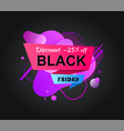 promotion with discount poster with sale vector image