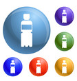 recycle plastic bottle icons set vector image vector image