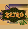 retro background with a place for your text vector image