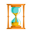 sand hourglass time leak concept flat design vector image vector image