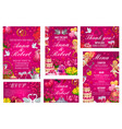 save date invitation rsvp card menu vector image vector image