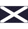 Scottish Saltire National Flag vector image vector image