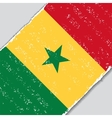 Senegalese grunge flag vector image vector image