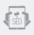 seo flag on tablet vector image vector image