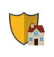 shield and house icon vector image vector image