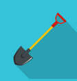 shovel icon flat style vector image vector image