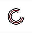 simple initials c cc ccc geometric network line vector image vector image