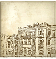 sketchy drawing historical building vector image vector image