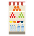 Supermarket shelf vector image