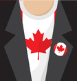 T-Shirt With Canada Flag vector image vector image