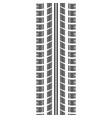 tire track in track silhouette vector image vector image