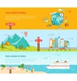 Travel concept Colorful banners set vector image